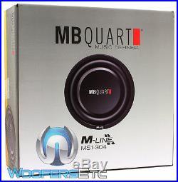 MB Quart Ms1-304 12 Sub 600w Dual 4-ohm Car Shallow Subwoofer Bass Speaker New