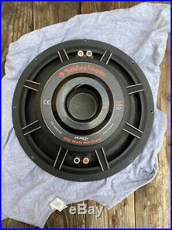 MINT Old School 15 Inch Rockford Fosgate Punch Hx2 Subwoofer Dual 4 Ohms RFD2215