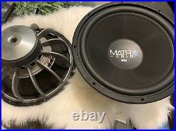 MMats 2 Matrxx Audio WX4 15 inch Subwoofer Dual 4-Ohm Voice Coils 3000 Watts