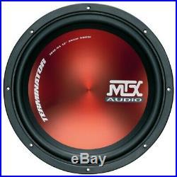 MTX Terminator 12 Inch 30cm 600 watt peak Car Subwoofer 4Ohm Sub Woofer
