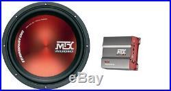 MTX Terminator 12 Inch 30cm 600 watt peak Car Subwoofer 4Ohm Sub Woofer + amp