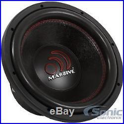Massive Audio GTX 124R 2000 Watt Max 12 Inch Dual 4 Ohm Car Subwoofer Open Box