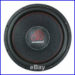 Massive Audio HIPPOXL122 8000 W 12 inch Dual 2 ohm Hippo Car Subwoofer 2 Subs