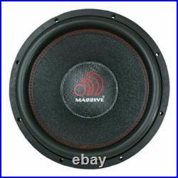 Massive Audio HIPPOXL124 12 Inch 4000 Watt Dual 4 Ohm Mega Subwoofer