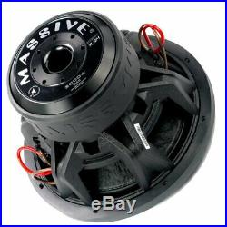 Massive Audio Pro Car Audio Sound SummoXL124 12 Inch Dual 4 Ohm 3000W Subwoofer