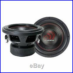 Massive Audio Pro Car Sound GTX122 1400 Watt Dual 2 Ohm 12 Inch Single Subwoofer