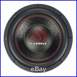 Massive Audio Pro Car Sound GTX154 1400 Watt Dual 4 Ohm 15 Inch Single Subwoofer