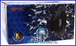 Memphis Br15s4 15 Sub 800w Car Audio Single 4-ohm Subwoofer Bass Speaker New