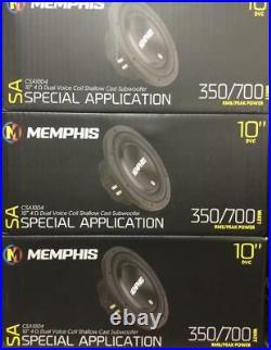 Memphis Car Audio 15-csa10d4 10' Inch 4 Ohm DVC Dual Voice Coil 700watts Compact