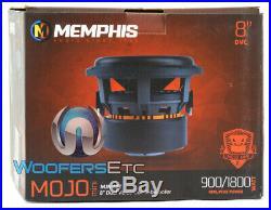 Memphis Mjm844 8 Mojo Mini Sub 1800w Dual 4-ohm Car Subwoofer Bass Speaker New