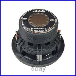 Mmats pro Audio 10inch subwoofer new model Dreadnaut DVC 4ohm 1000watts RMS