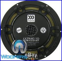 Morel Ultimo 10 Woofer 10 Sub 2 Ohm Car Audio 1000 Watt Subwoofer Speaker New