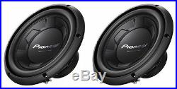 NEW (2) 10 Pioneer Subwoofer Bass. Replacement Speakers. 4ohm. SVC. 1100W PAIR. 10in