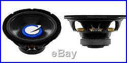 NEW (2) 10 SubWoofer Speakers. 4ohm. Car bass sub woofers. Replacement. 1200w. PAIR