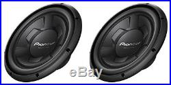 NEW (2) 12 Pioneer SVC Subwoofer Bass. Replacement Speakers. 4ohm. Car Pair. 1300w