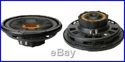 NEW (2) 12 SVC Subwoofer Bass. Speakers. 4ohm. Shallow Depth slim Mount. 1000w. PAIR