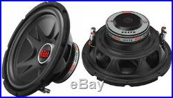 NEW (2) 12 SubWoofer Speakers. DVC 4ohm Bass. Car. Boat. Audio Sound. Subs. PAIR. Dual