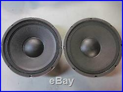 NEW (2) 12 Woofer Speakers PAIR. Twelve inch PA. 8ohm. Replacement. Drivers. DJ BASS