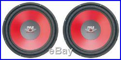 NEW (2) 15 SVC Subwoofer Speakers. 4 ohm. Fifteen inch PAIR. Car Bass sub Woofers