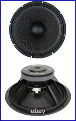 NEW (2) 15 Woofer Speaker. Guitar. Pro Audio. 8ohm. DJ. Subwoofer Bass Cabinet Pair