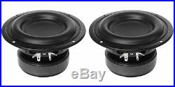 NEW (2) 5.25 SubWoofer Bass Speakers. 4 ohm Home Car Audio Woofer. 6 frame. PAIR