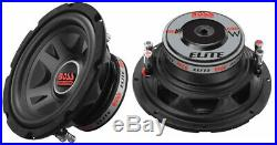 NEW (2) 8 SubWoofer Speakers. DVC 4ohm Bass woofer. Car. Boat. Audio Sound. 8inch