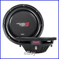NEW (2) CV 10 DVC Shallow Mount Subwoofer Bass. PAIR. Speaker. Dual4Ohm. Depth Slim