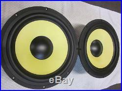 NEW (2) KRK 12 Subwoofer Speaker PAIR. 4 ohm. V12s. 12s. Studio BASS. Driver. Woofer