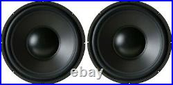 NEW (2) Pair 12 inch Heavy Duty Home Stereo Sub Woofer Bass Speaker 8 ohm 600W
