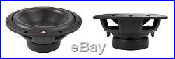 NEW (2) Rockford Fosgate 10 DVC SubWoofer Speakers. PAIR dual 4 ohm coil. 10inch
