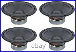 NEW 4Pack 8 Woofer Replacement Speakers. 8ohm. Home Audio. Eight inch. Subwoofer