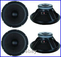 NEW (4) 18 Subwoofer Bass Cabinet Replacement Speakers. 8ohm. 18inch Subs. 4pack