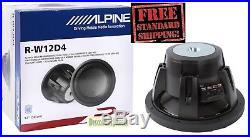 NEW ALPINE R-W12D4 2250W 12 INCH R-Series Dual 4 Ohm Car Subwoofer RW12D4