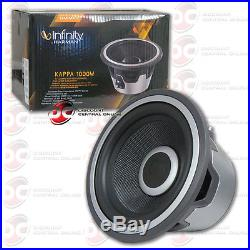 NEW INFINITY KAPPA 10 CAR AUDIO SUBWOOFER With SELECTABLE 4 OR 2-OHM SWITCH 1800W
