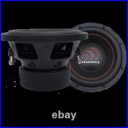 NEW MASSIVE AUDIO GTX 104 1400 Watt 10 Inch Dual 4 Ohm Car Subwoofer Sub Woofer