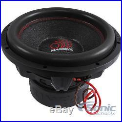 NEW! MASSIVE AUDIO SUMMOXL 124 3000 Watt 12 inch Dual 4 Ohm Car Subwoofer Sub