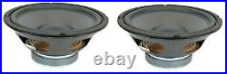 NEW Pair (2) 10 inch Super Low Frequency Mega Bass Woofers 8 Ohm Home Subwoofer