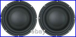 New (2) 8 inch Competition Car Subwoofers 4 Ohm 1000W High Excursion Ultra Bass