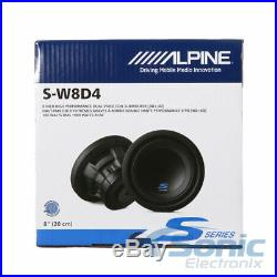 New! Alpine S-W8D4 900 Watts 8 Inches S Series Dual 4 Ohm Car Audio Subwoofers