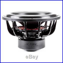 New Skar Audio Evl-15 D4 2500w Max Power 15-inch Dual 4 Ohm Spl/sq Car Subwoofer