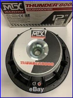 New in Box, Old School MTX Thunder 8000 12-inch Subwoofer T8124A 4 Ohms