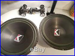 Old School Kicker C15a 15 Inch Subwoofers 4 Ohm Competition