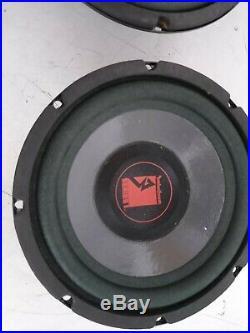 Old school rockford fosgate series 1 8 inch subwoofers 4ohm