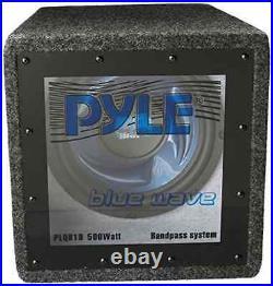 One 10'' High Power 4 Ohm Subwoofer PYLE PLQB10 10-Inch 500 Watt Bandpass, New