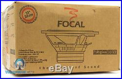 Open Box Focal 33v2 13 Sub 800w Dual 4-ohm Polyglass Subwoofer Clean Bass