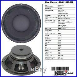 PAIR Peavey 10 inch 8ohm bass guitar speaker BAM-1038-MI Midbass Woofer Eminence