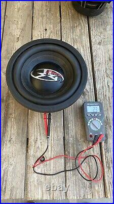 Pair Of Old School Rockford Fosgate 10 Inch Punch Hx2 Subwoofers Dual 2 Ohms