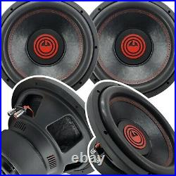 Pair of Gravity 12 Inch 4000 Watt Car Subwoofer with 2 Ohm DVC Power (2 Sub)