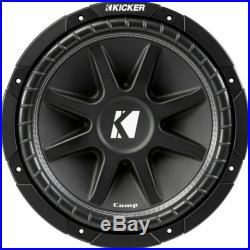 Pair of Kicker 43C124 Classic 12 inch Comp 4 Ohm SVC Subwoofer