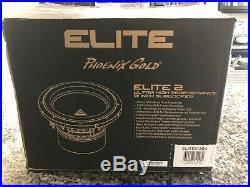 Phoenix Gold Elite2.12D4 Elite Series 12inch 1200W Subwoofer Dual 4 Ohm (Ti3X)